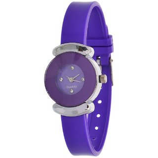 Glory Purple Fancy PU Collection Analog Watch - For Women by 7Star