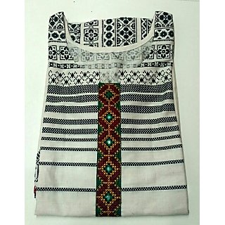 A1 Plus designer ethnic wear embroidered half sleeve kurtis for women