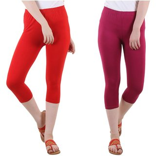 Diaz Multi Color Cotton Lycra Capris