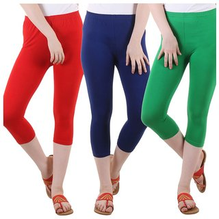 Diaz Multi Color Cotton Capris