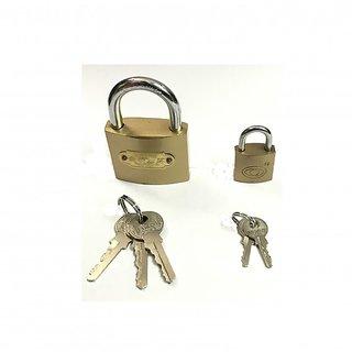 EZZIDEALS  50mm  25mm multipurpose Top security copper lock (set of 2)