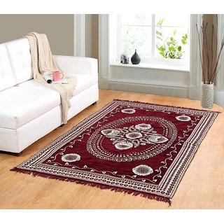 Valtellina Maroon chenille carpet (85 inch X 55 inch) CNCPT-01