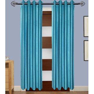 Beautiful set of 2 plain door curtains(THC0413)