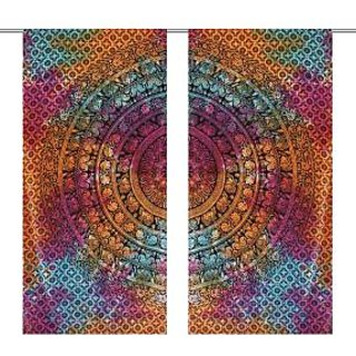 Latest Mandala Colorful Printed New latest Curtain For Home Dcor(2 Panel/ size 4080) .Each set include 2 paneles.