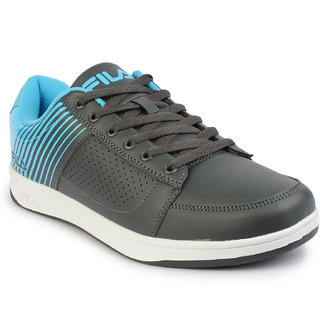 Fila Men's Blue & Gray Lace-Up Casual Shoes