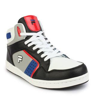 Fila Men's Black & White Lace-Up Casual Shoes