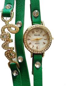 WALAR Love Bracelet Wrist Watch - Blue