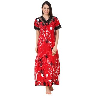 2e9d30247ee Buy Fasense Red Cotton Nighty Night Gowns Online - Get 66% Off
