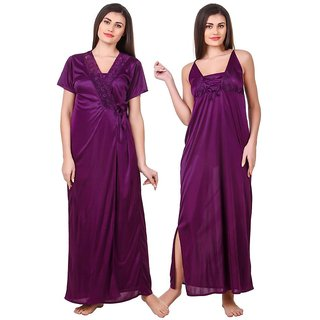 Buy Fasense Satin Nighty Night Gowns Online - Get 69% Off 4f98597e8