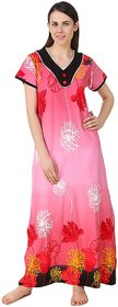 Fasense Pink Cotton Nighty  Night Gowns