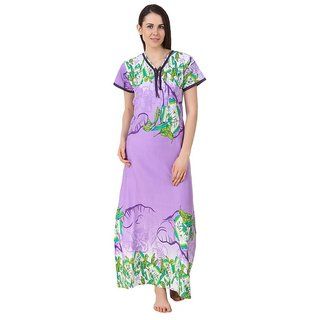 29e428a93ee Buy Fasense Blue Cotton Nighty Night Gowns Online - Get 66% Off
