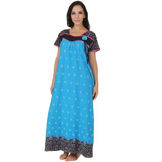 Super discount official photos hottest sale Fasense Turquoise Cotton Nighty