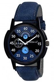 DCH Quartz Analog Black Round Dial Men's Watch IN-31