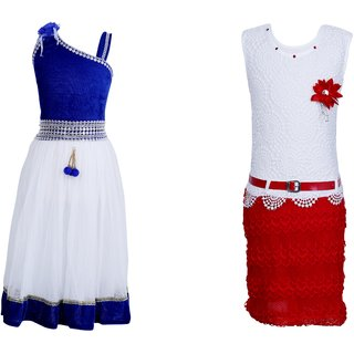 Qeboo Girls Party Wear Dress Combo