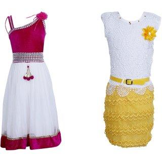 8158c7b8546 Buy Qeboo Girls Party Wear Dress Combo Online - Get 86% Off