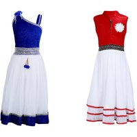 Crazeis Multicolour Cotton Dress (Combo)