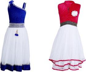 Qeboo Multicolour Cotton Dress Combo