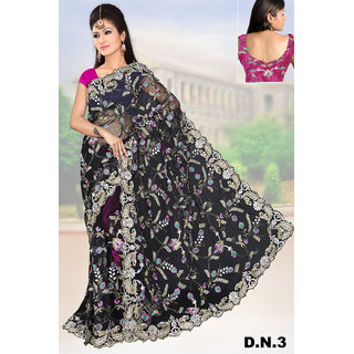 Black Net Sarees