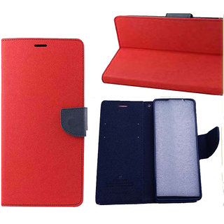 Micromax Canvas HD A116 Flip Cover By    Red available at ShopClues for Rs.245