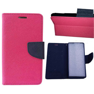 Micromax Canvas HD A116 Flip Cover By   Pink available at ShopClues for Rs.245