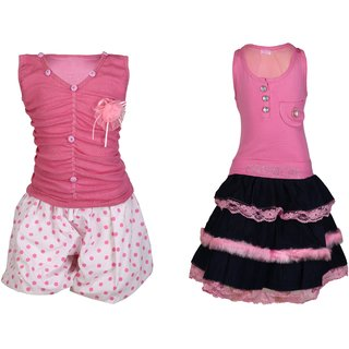 Qeboo Girls Party Wear Dress Combo