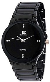 IIK Collection Designer Black Analog Watch For Men