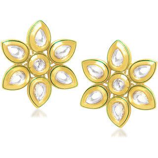VK Jewels Sunflower Kundan Earring set -ERZ1148G [VKERZ1148G]