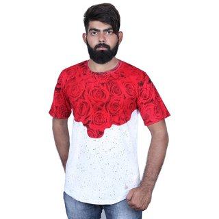 Storyteller Red&White Round Neck Men's T-Shirt