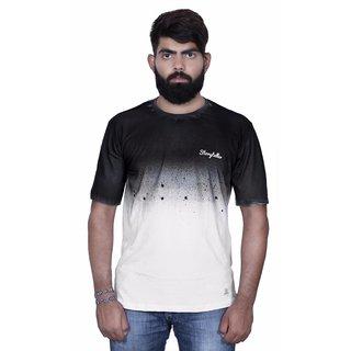 Storyteller Black&White Round Neck Men's T-Shirt