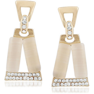 VK Jewels Rectangular Gold Plated Alloy Drop Earring Set For Women & Girls- ERZ1648G [VKERZ1648G]