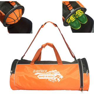 Bagther Sports Gym Travel Duffle Bag (Orange)