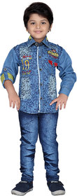 AJ Dezines Kids Shirt and Jeans Set For Boys