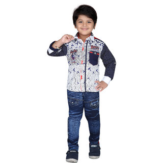 AJ Dezines Kids Shirt and Jeans Set For Boys