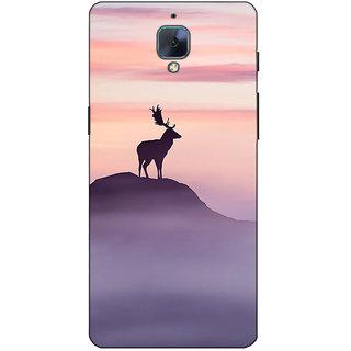 Fuson Designer Back Case Cover For OnePlus 3 :: OnePlus Three :: One Plus 3 (Rain Deer Image Mountain)