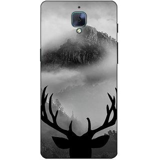 Fuson Designer Back Case Cover For OnePlus 3 :: OnePlus Three :: One Plus 3 (Rain Deer Horn View)
