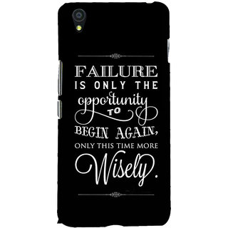 Fuson Designer Back Case Cover For OnePlus X :: One Plus X (Failure Is Only The Opportunity)