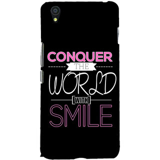 Fuson Designer Back Case Cover For OnePlus X :: One Plus X (Conquer The World With Smile)