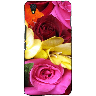 Fuson Designer Back Case Cover For OnePlus X :: One Plus X (Colourful Rose Bunch)
