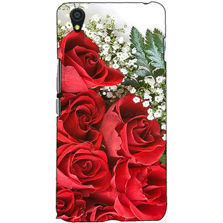 Fuson Designer Back Case Cover For OnePlus X :: One Plus X (Red Rose Bunch Theme)