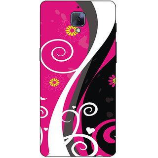 Fuson Designer Back Case Cover For OnePlus 3 :: OnePlus Three :: One Plus 3 (Pink Designer Pattern Theme)