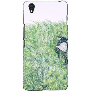 Fuson Designer Back Case Cover For OnePlus X :: One Plus X (Lady In Feather Theme)