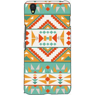 Fuson Designer Back Case Cover For OnePlus X :: One Plus X (Orange Rangoli Pattern )