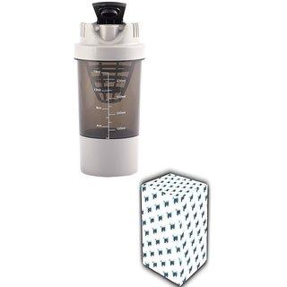 CP Bigbasket Cyclone Gym Shaker Water Bottle, 500 ml, 1-Piece, Grey.