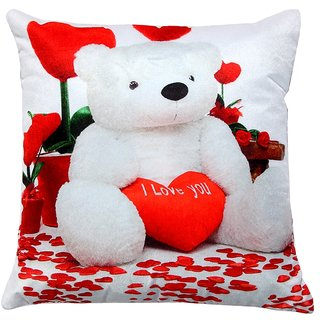 Welhouse teddy I love u printed cushion cover VLCU-028
