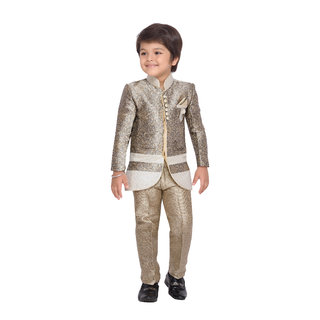 84a39a556 Buy AJ Dezines Kids Indo Western Sherwani Suit for Boys Online - Get ...