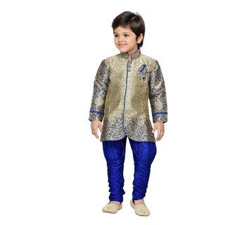 AJ Dezines Kids Indo Western Sherwani Set for Baby Boys