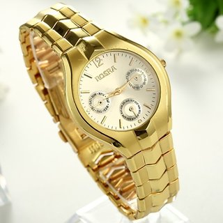 i DIVA'S  New Rosra Golden Watch for Ladies By 5Star