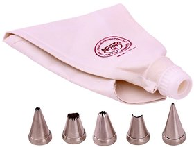 NOOR CAKE DECORATING ICING BAGS (35 CM) WITH 5 NOZZLES