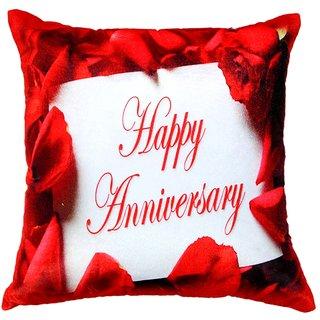 Welhouse happy anniversary printed cushion cover VLCU-041