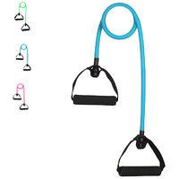 CP Bigbasket Toning Tube Resistance Bands / Cord Pulley TPR Foam For Exercise Fitness Training with Foam Handles Blue